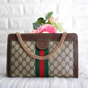 💖GUCCI Sherry line Clutch/Crossbody Bag